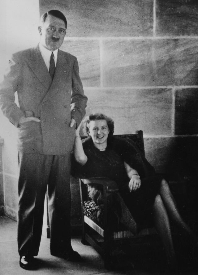 Hitler and his lover Eva Braun died together in Berlin in 1945
