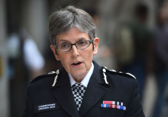 Dame Cressida Dick said police would quickly fine lock breakers