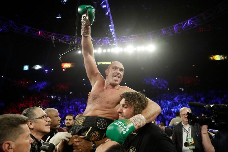 Fury beat Wilder in Feb 2020 to win the WBC world heavyweight title