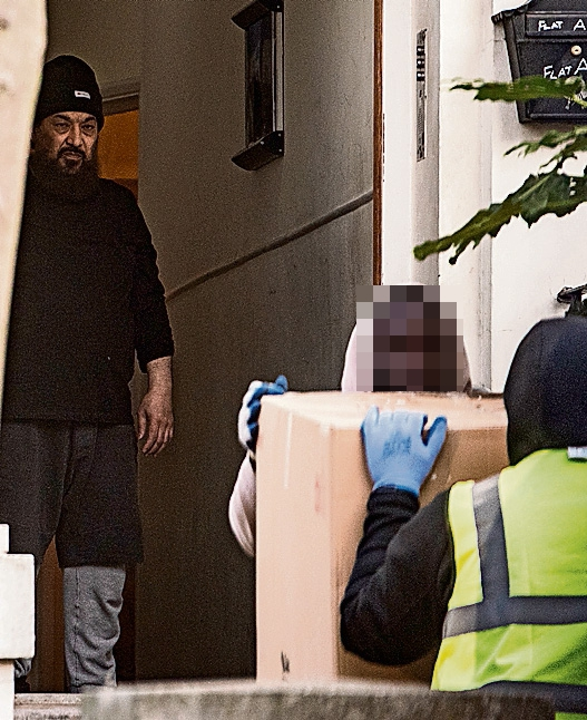 The convicted terrorist, pictured at his £1million home, was granted early 'mercy release' from a US prison