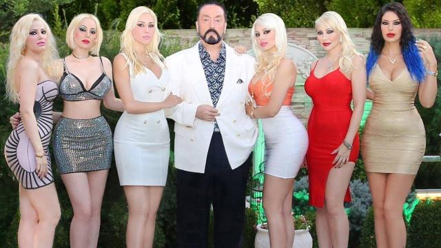 Adnan Oktar would often be surrounded by scantily-clad women he called his 'kittens'