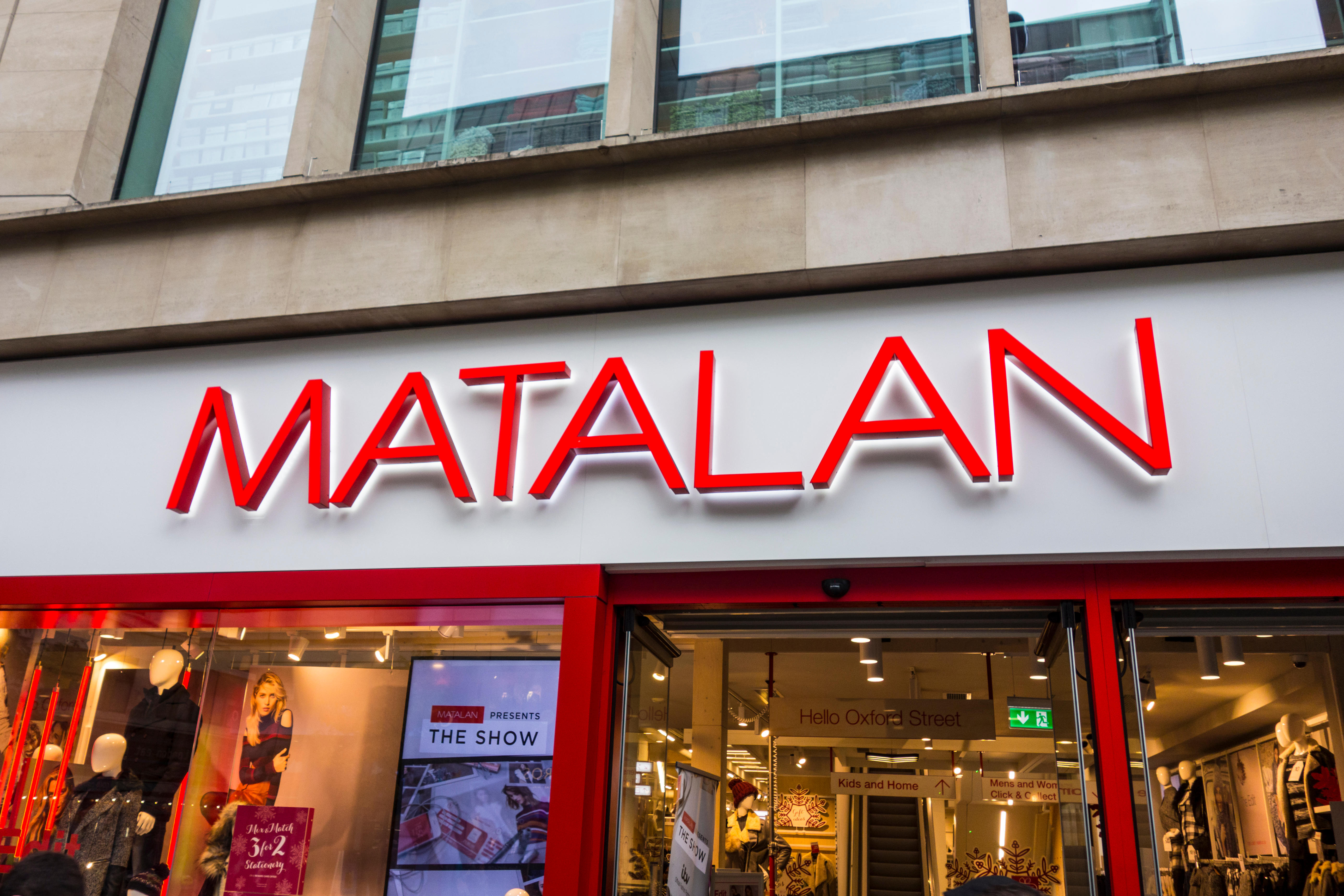 Matalan stores are open for click and collect during England's lockdown