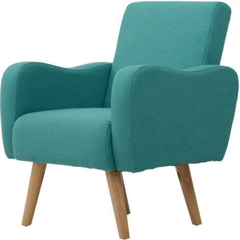 Save £100 as you enjoy some down time on this Scandinavian Style Teal Armchair from manomano.com