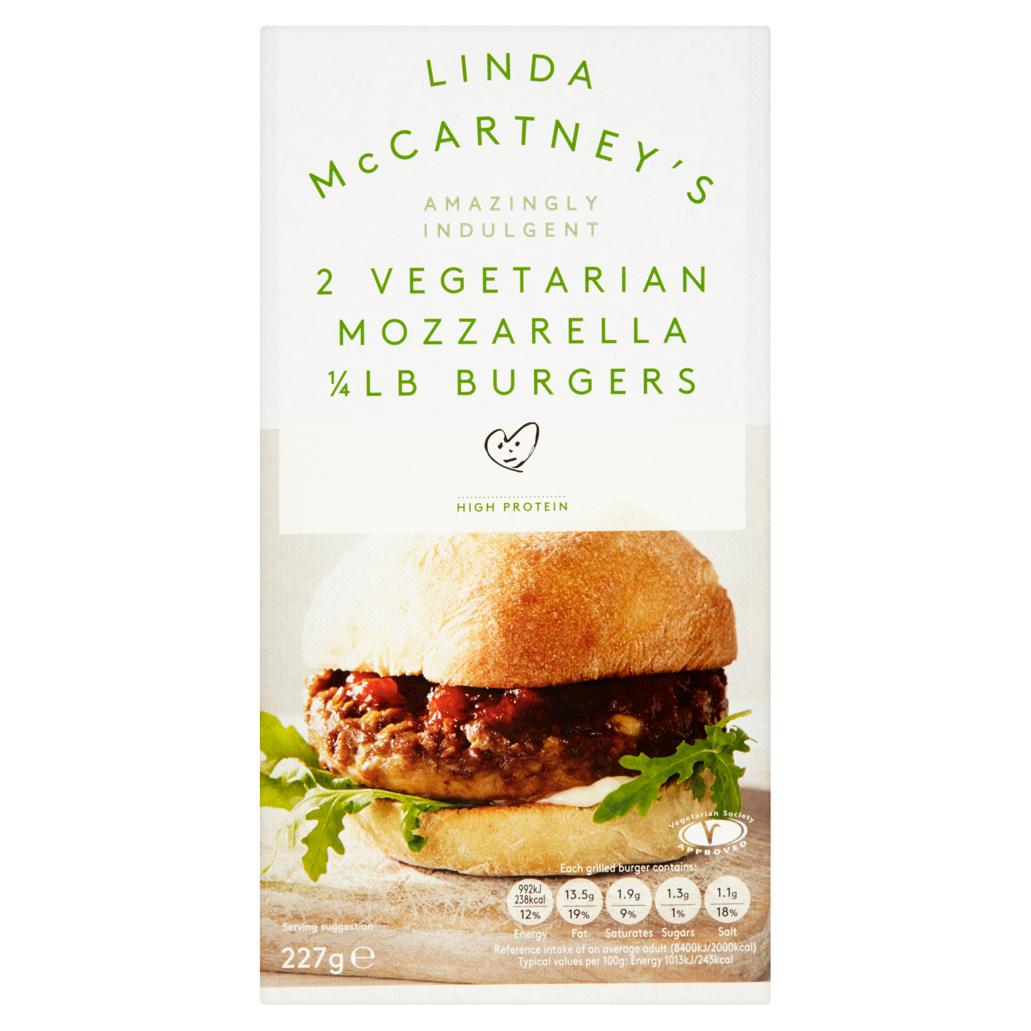 Delight your taste buds with Linda McCartney's Mozzarella Burgers at Tesco for just £1.25 now