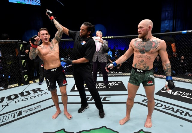 Dustin Poirier stopped Conor McGregor in their rematch