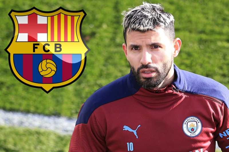 Man City star Sergio Aguero eyed by Barcelona on free transfer with contract having just SIX-MONTHS left