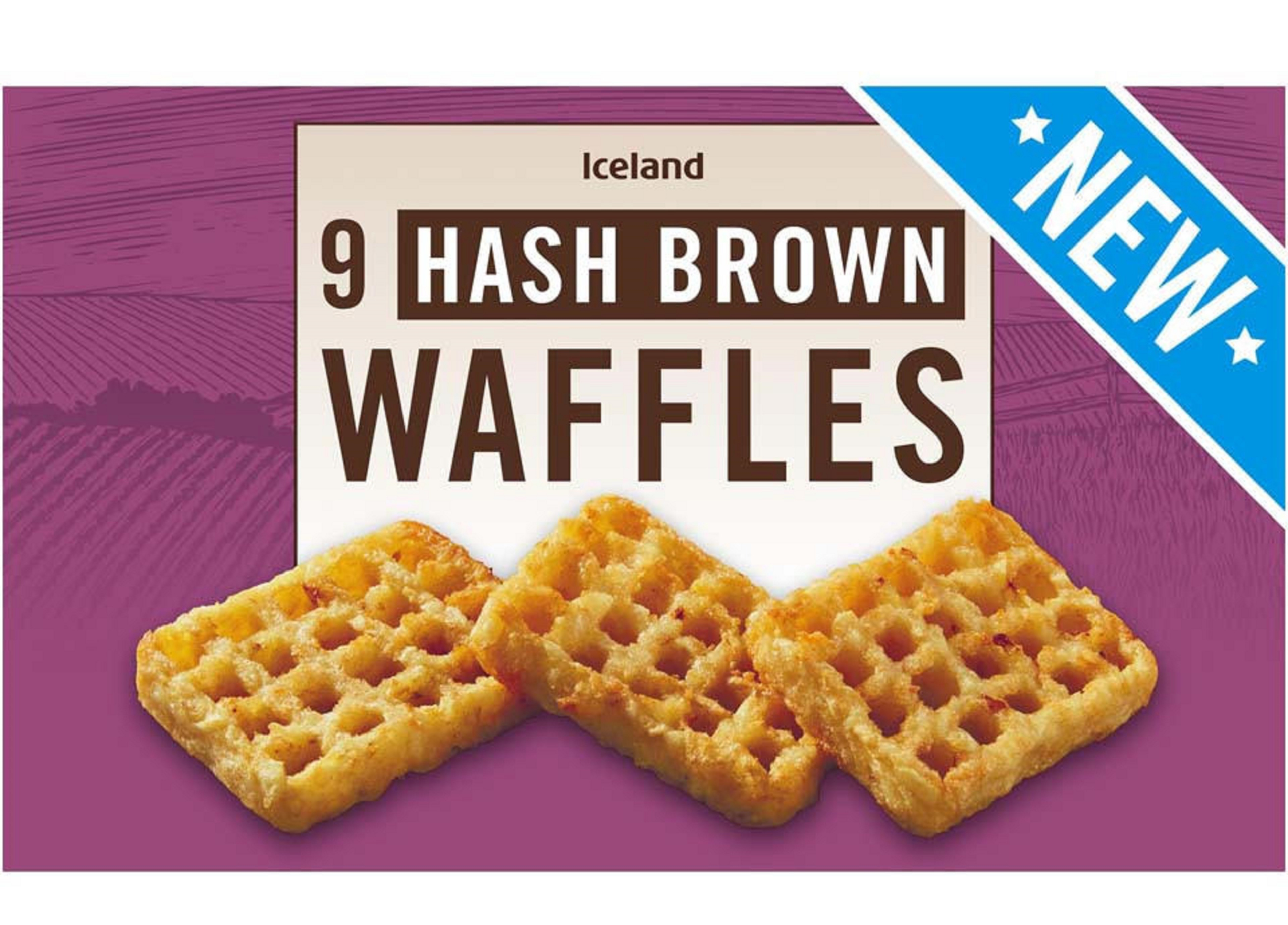 These hash brown waffles at Iceland are £1