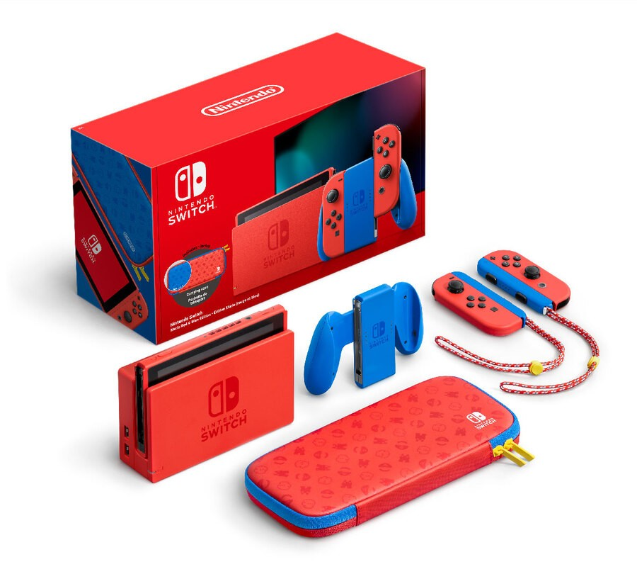 The console comes with a screen protector and carrying case