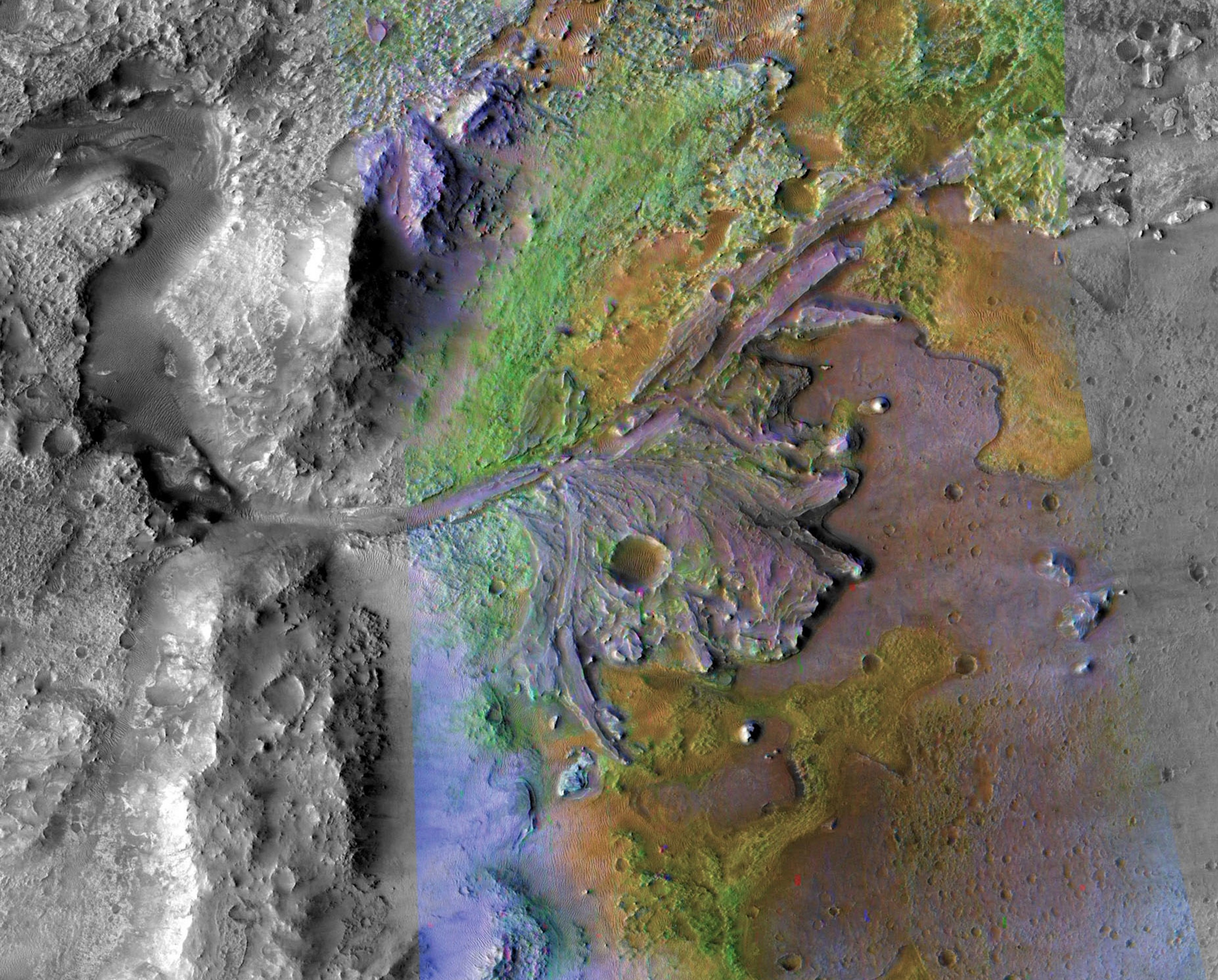 Jezero Crater, the landing site for the Mars Perseverance Rover