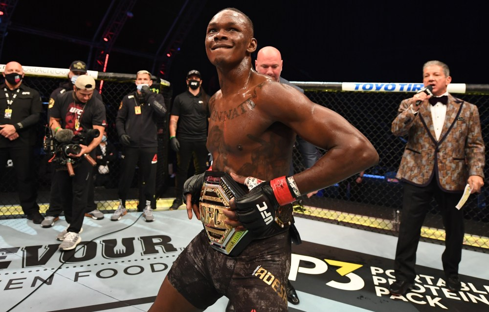 Israel Adesanya will challenge Jan Blachowicz for the light-heavyweight title next month