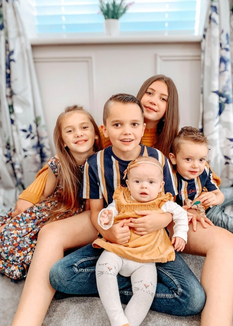 Anastasia said she tries to be relaxed and fair with her five kids - letting them spend their days as they wish once their school work is finished