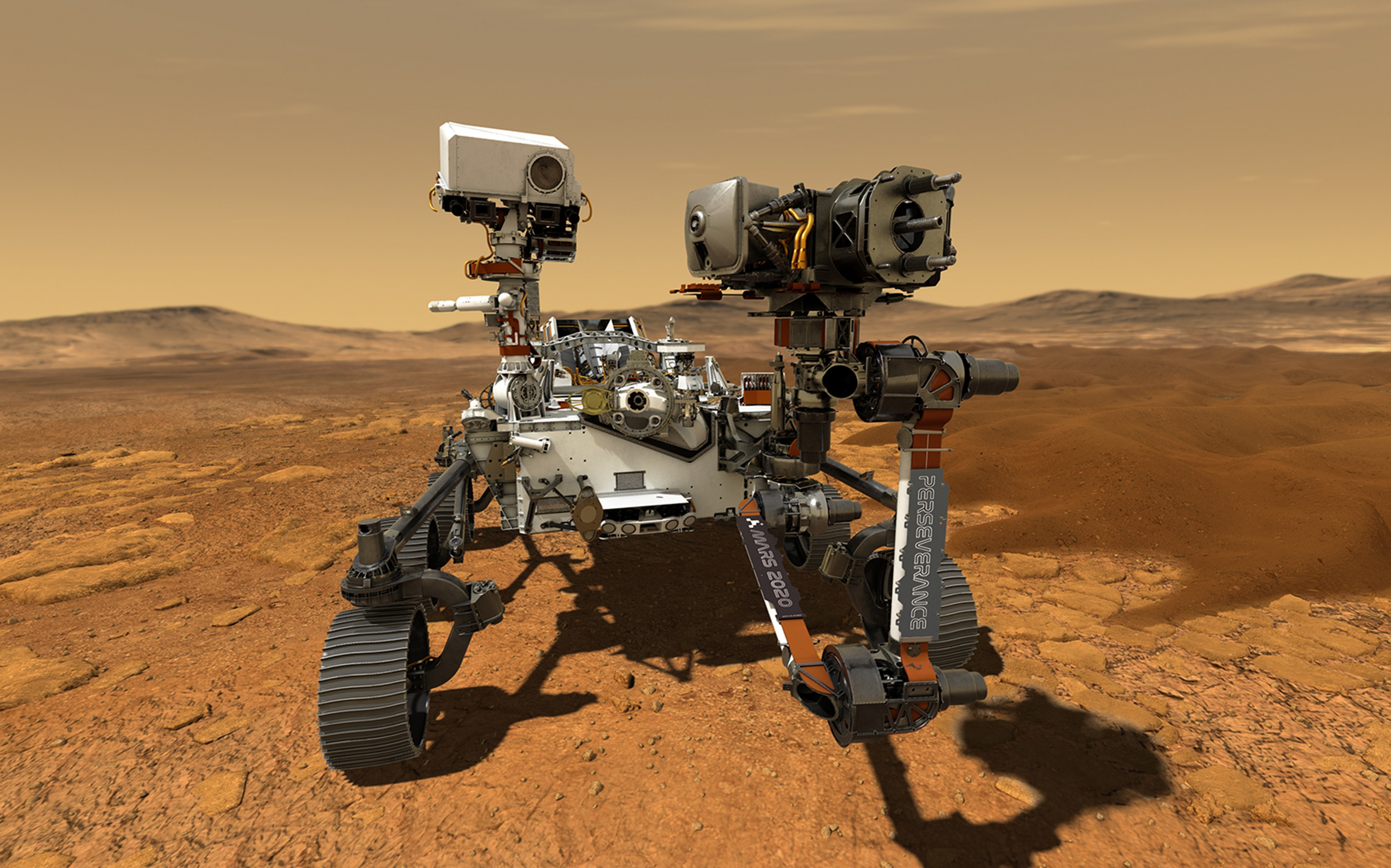 Perseverance will be on the Red Planet for at least one Mars year - the equivalent of two Earth years