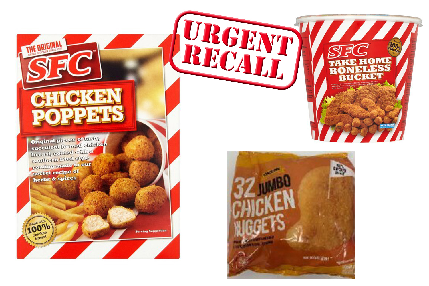 The above products have been recalled over salmonella fears