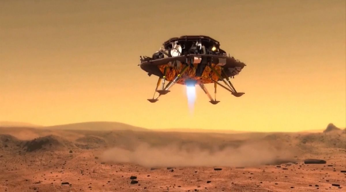A lander carrying the probe is due to touch down on the planet in May