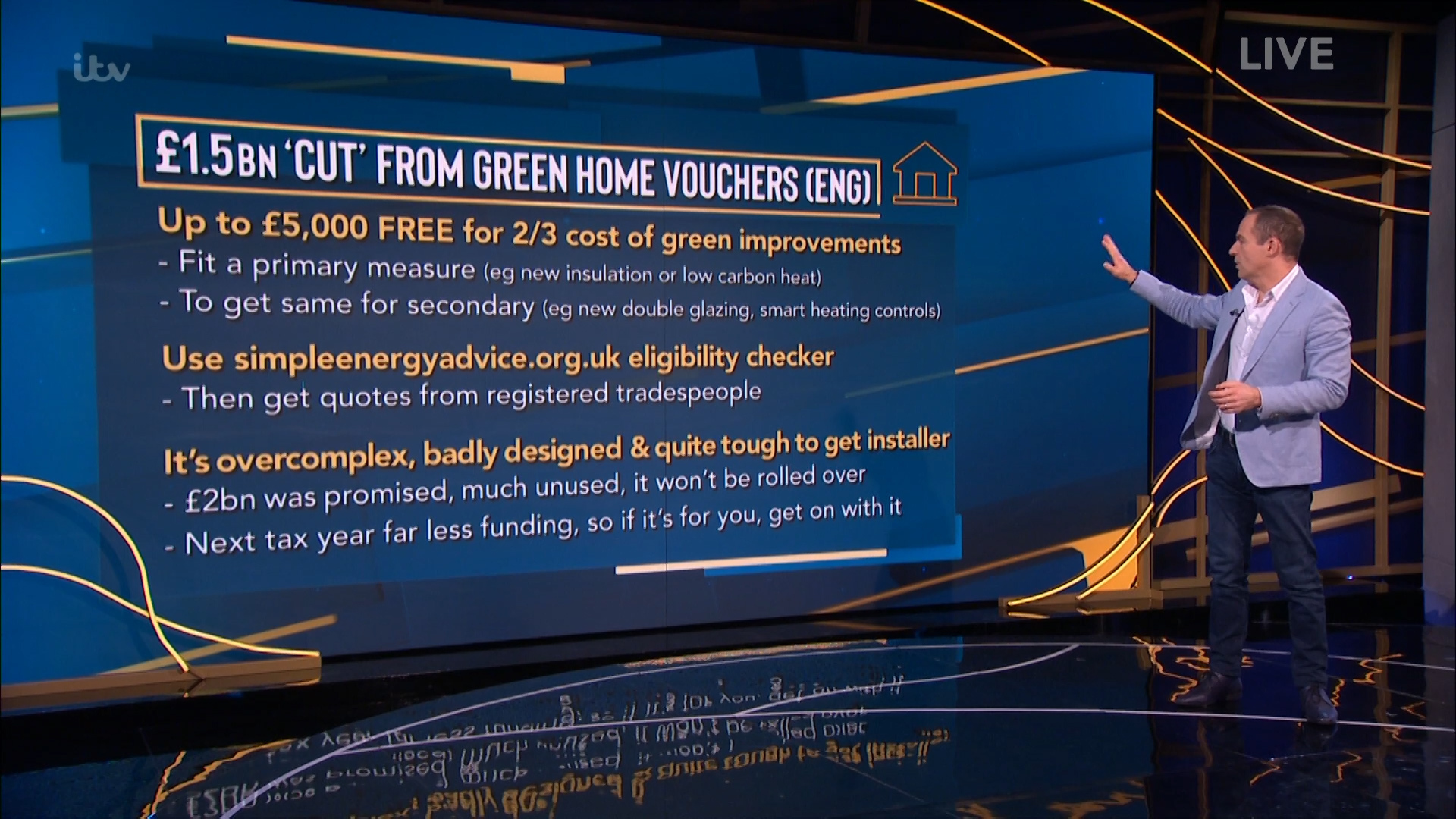 """Martin urged Brits wanting to apply to the scheme to """"get on with it"""" before money is slashed from the Green Homes Scheme budget"""