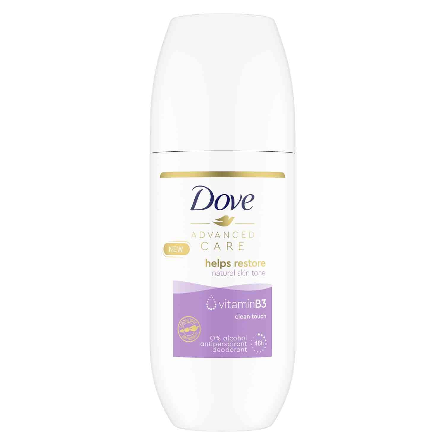 Shop the Dove Advanced Care Clean Touch roll-on deodorant and save £2.04