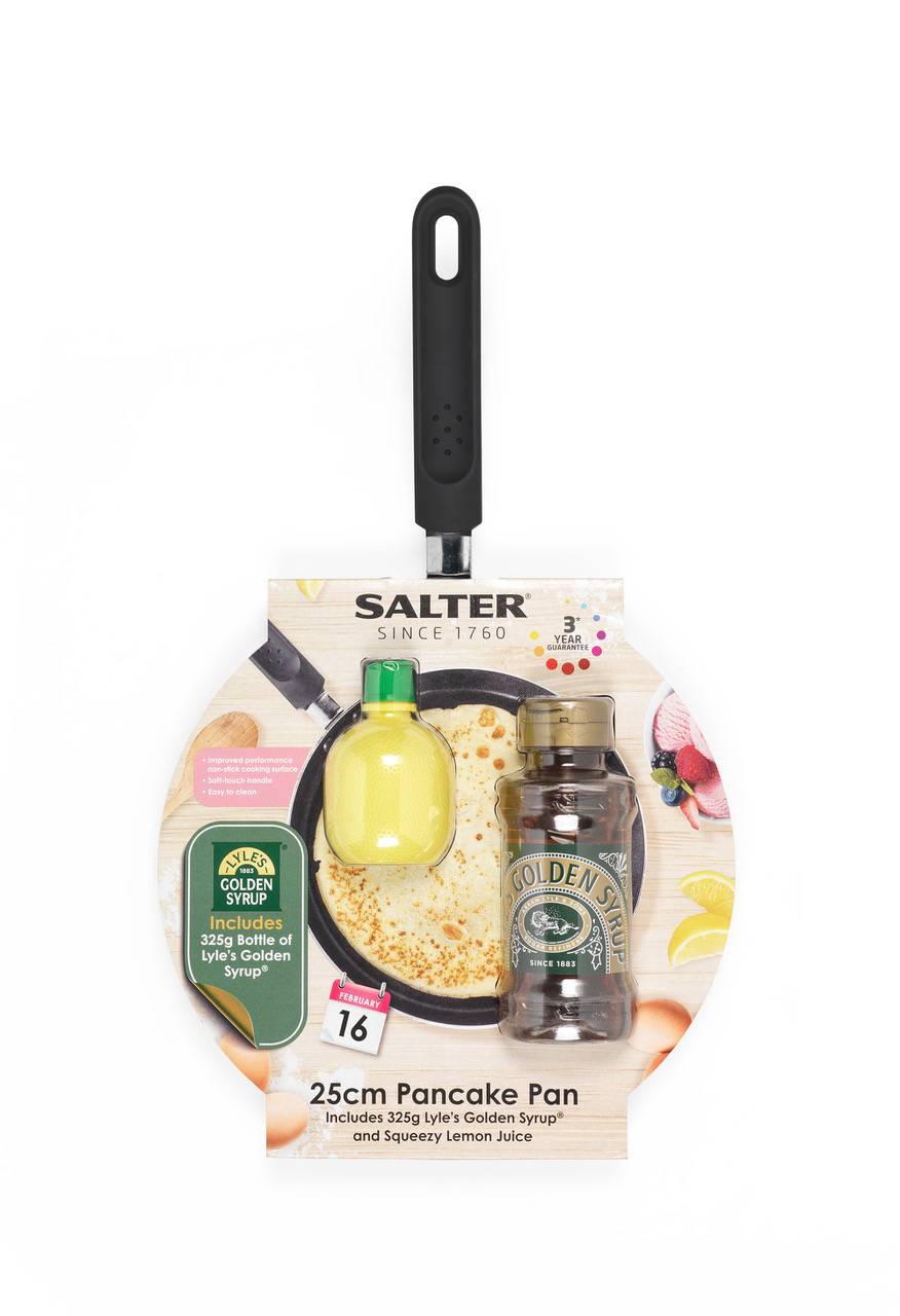 Delight your taste buds with the Salter pancake pan and set, down to £10 at Tesco
