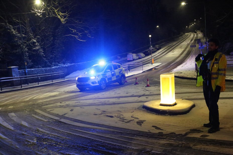 Roads in the south-eastern country were impassable this morning after the bad weather