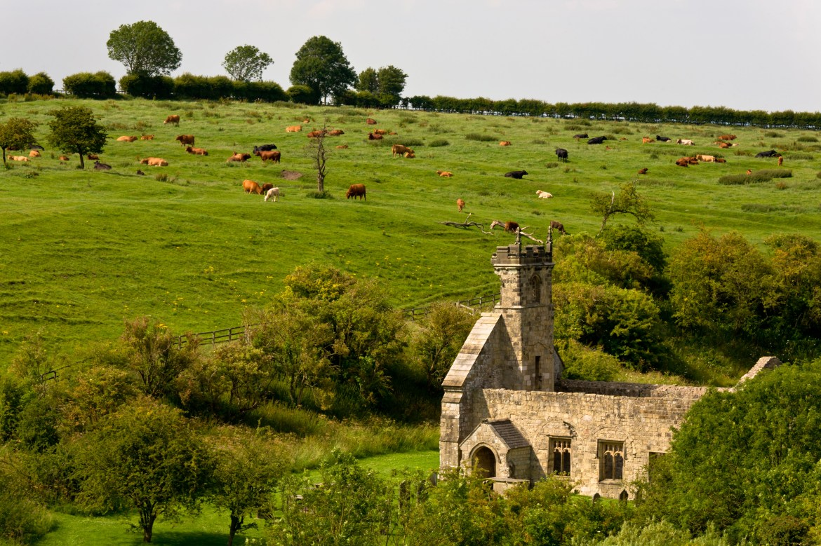 An abandoned village in Yorkshire is home to a creepy secret past