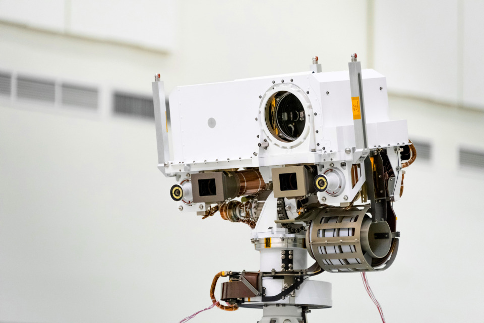 The main camera – the most powerful ever landed on Mars – will snap photos and video of the Red Planet's surface