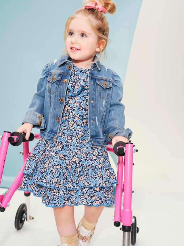 Daisy has spina bifida, hydrocephalus, hip dysplasia and club foot