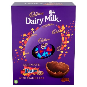 The indulgent egg contains Daim pieces in the shell