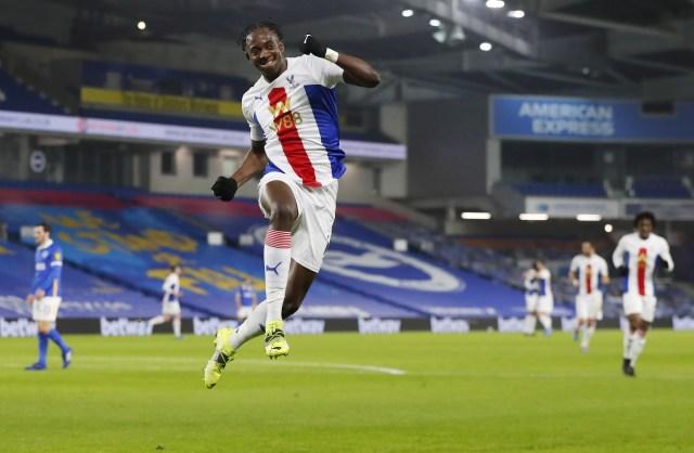 Jean-Philippe Mateta celebrates his goal
