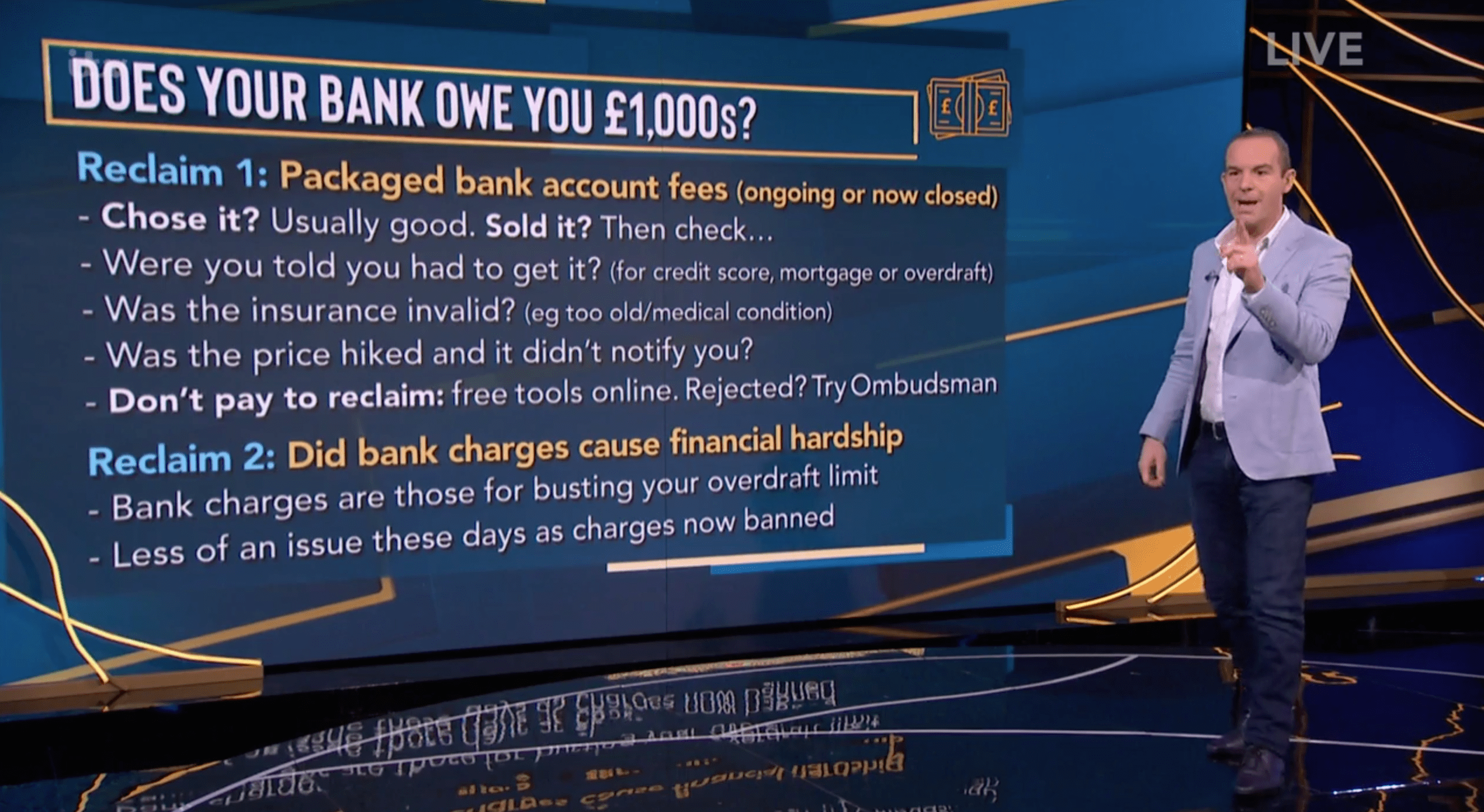 Martin Lewis has explained how to reclaim thousands of pounds from your bank
