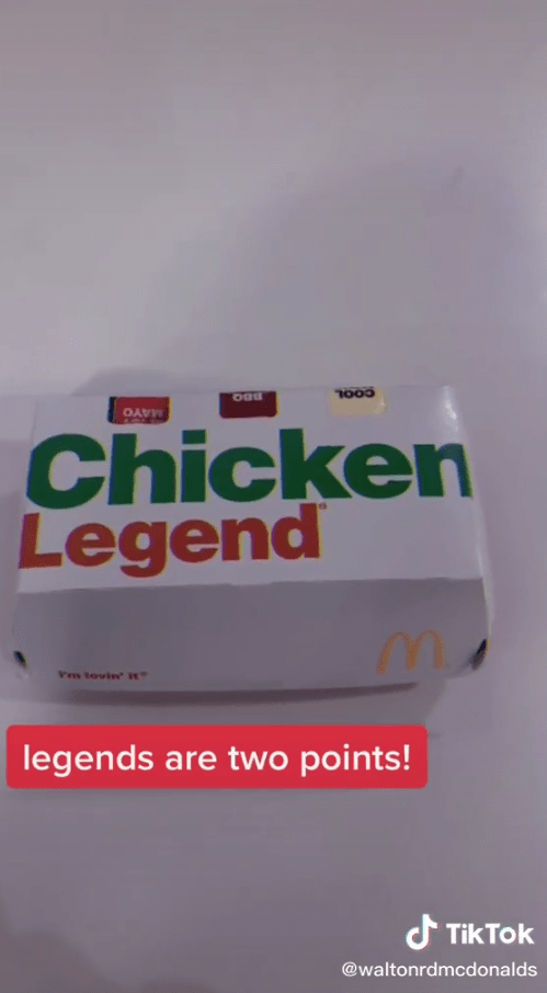 But premium burgers like the Chicken Select are two points