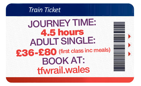Your 4.5 hour-journey from Holyhead to Cardiff will cost between £36 and £80