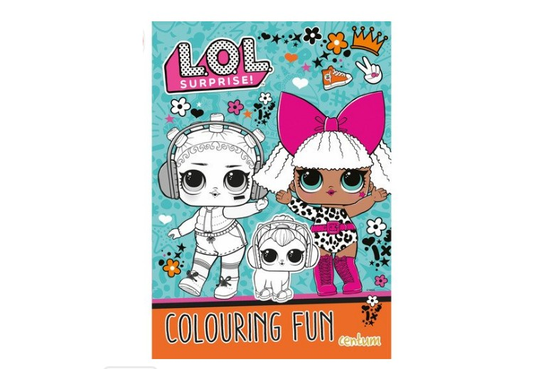 The colouring book features LOL Surprise characters