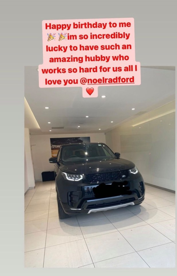 It comes just over a week after Sue was given a £30,000 Range Rover for her birthday