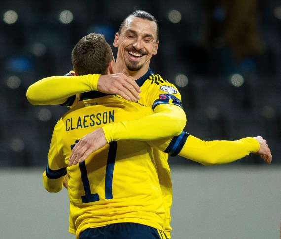 Zlatan Ibrahimovic grabbed an assist for Sweden in their win over Georgia