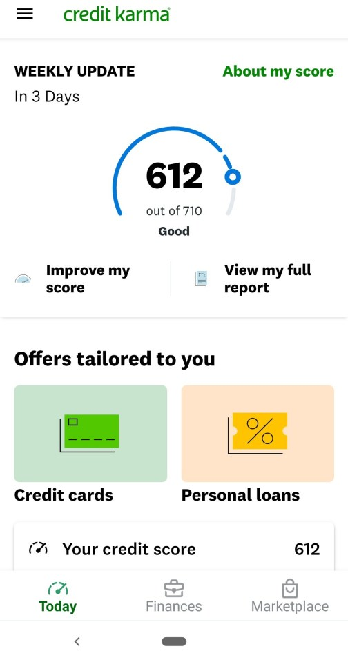 To check my TransUnion report for free, I had to check it via Credit Karma