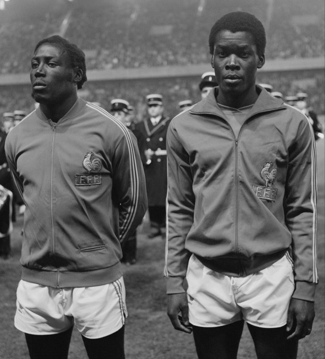 Adams lines up alongside France legend Marius Tresor, who he formed 'The Black Guard' with