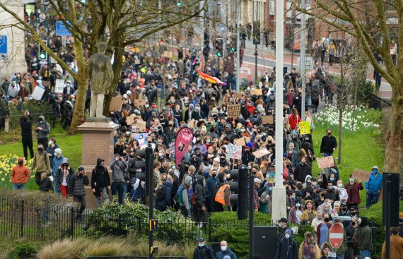 A march started in Bristol city centre on Friday evening