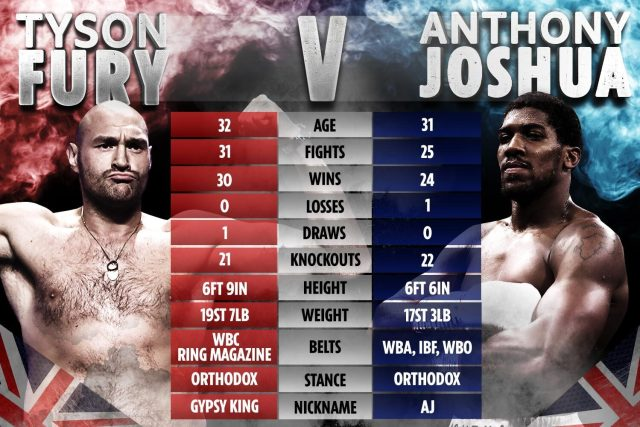 How the two British heavyweight stars compare