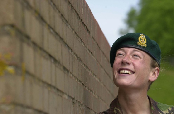 Captain Phillipa Tattersall - the first female soldier to win the Royal Marines Green Beret - said today she was 'in awe' when she received the coveted headgear.
