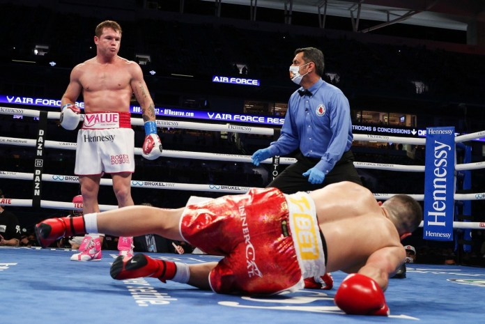 Canelo Alvarez TKO'd Avni Yildirim in the third round of their Miami clash