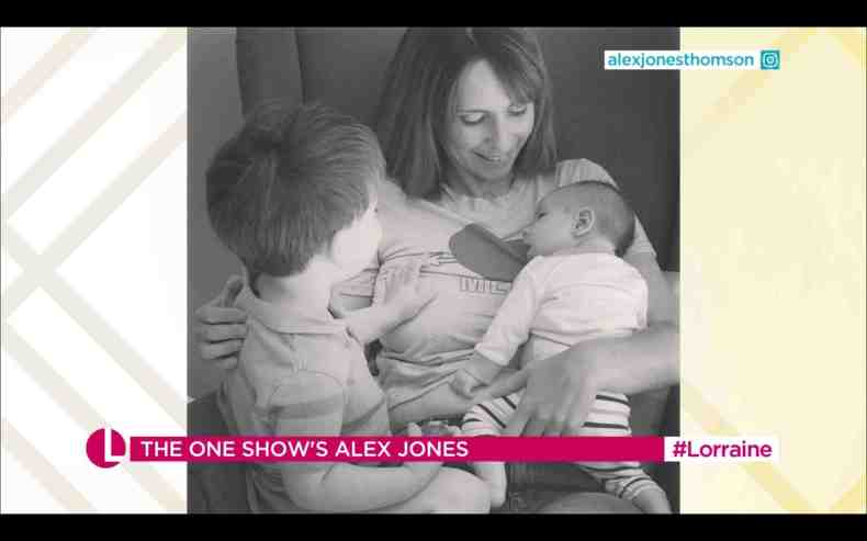 On parenting, Alex says: 'You feel pressure, and I don't think that ever goes away'