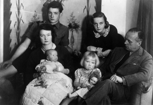 Bettina von Ribbentrop, with the dark hair at the back of this family photo, was one of the Nazi students at Augusta Victoria College
