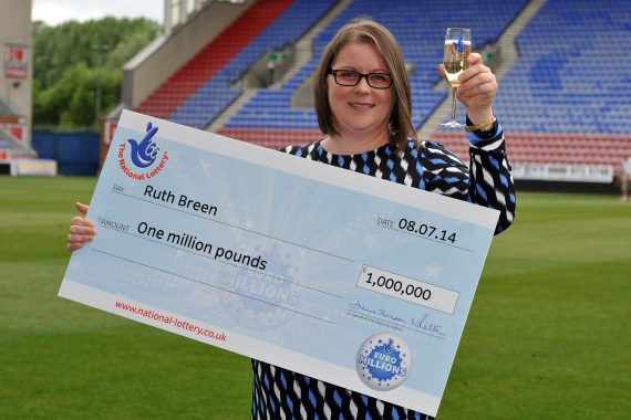 Ruth's megabucks win hasn't stopped her working hard for her daughter