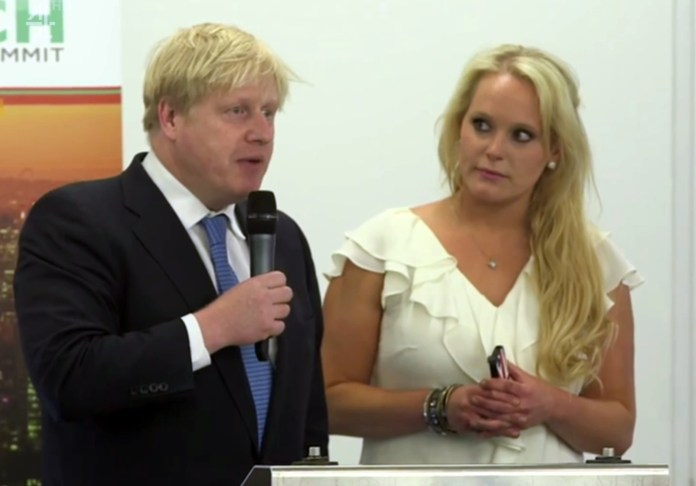 Jennifer Arcuri says Boris Johnson was not afraid to kiss her in public