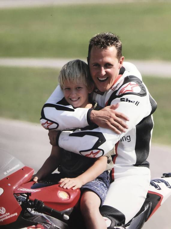 Michael Schumacher with his son, Mick