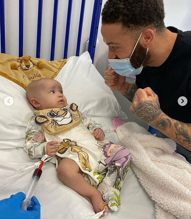 Ashley is trying to stay strong for his little girl