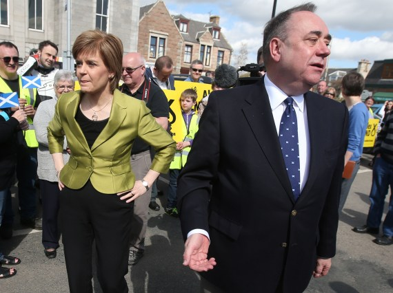 Mr Salmond is locked into a battle with currently First Minister Nicola Sturgeon