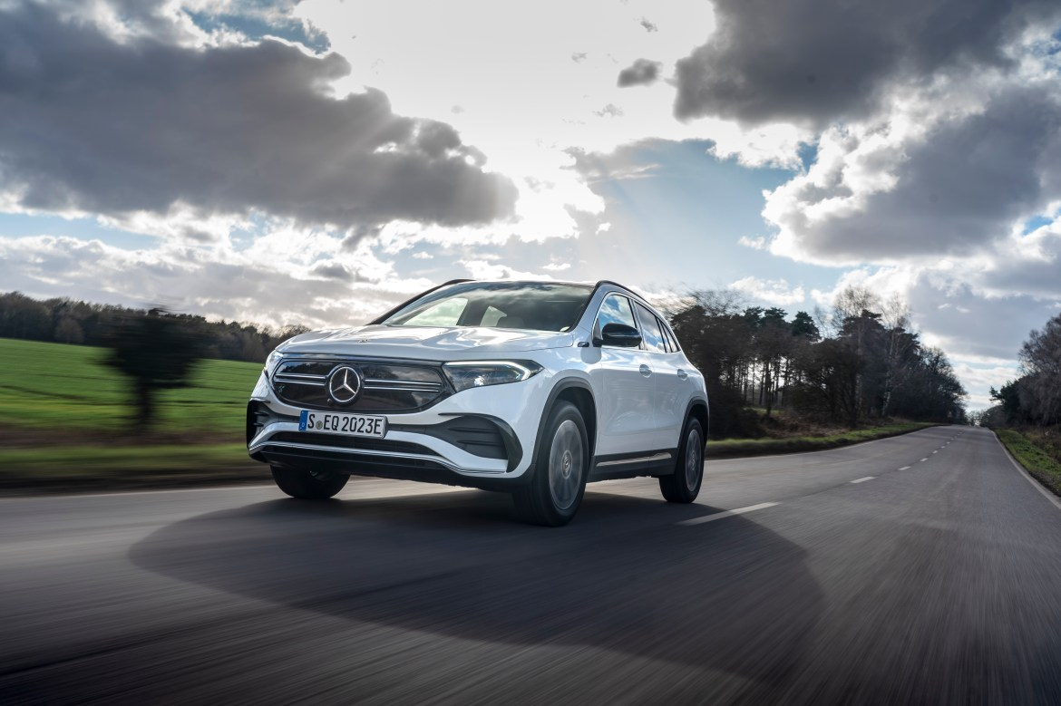 The Mercedes EQA is simply a GLA with the oily bits swapped out for electrodes