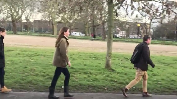 Kate, 39, seen leaving the shrine after a private visit to the Common