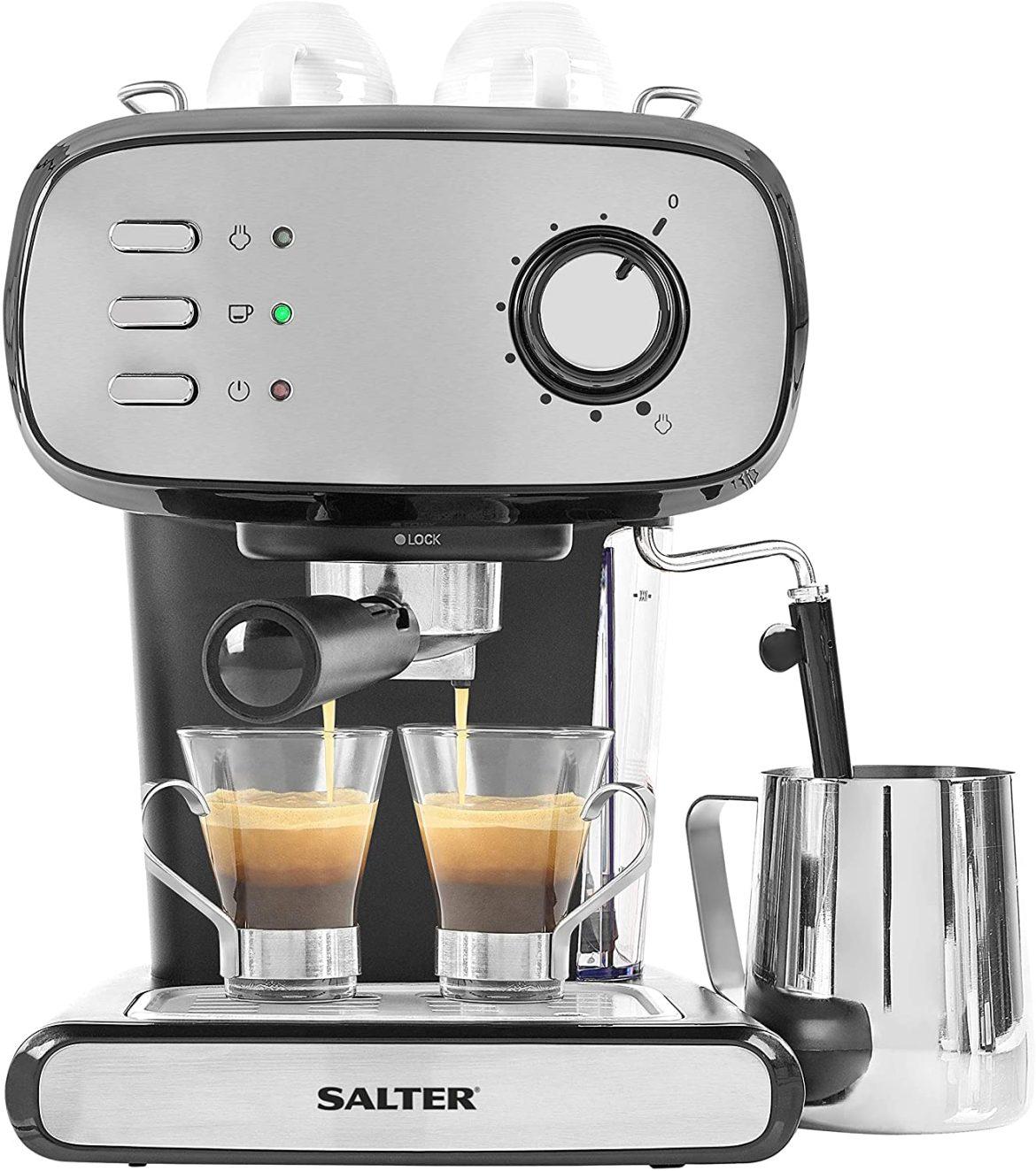 Save £57 on the new Salter Caffe Barista Pro espresso maker