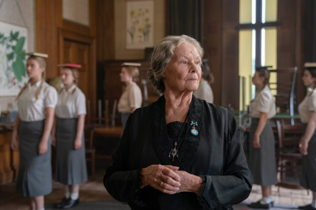 Dame Judi Dench plays the governess of a Nazi finishing school in Six Minutes to Midnight